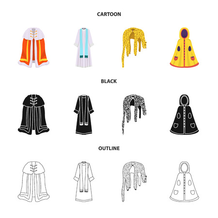 Isolated object of material and clothing symbol. Collection of material and garment vector icon for stock. Vectores
