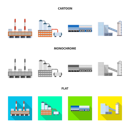 Vector design of production and structure sign. Set of production and technology vector icon for stock.