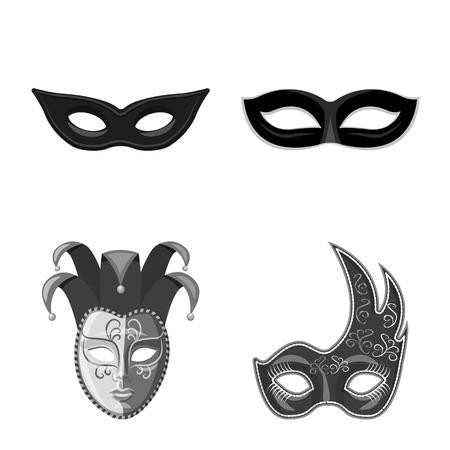 Illustration vectorielle de Venise et symbole du festival. Ensemble de Venise et illustration vectorielle stock célébration.