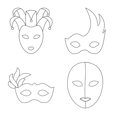 Isolated object of masquerade  and mystery sign. Collection of masquerade  and festival vector icon for stock.