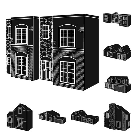 Isolated object of renovation and infrastructure icon. Collection of renovation and home stock vector illustration. Vectores