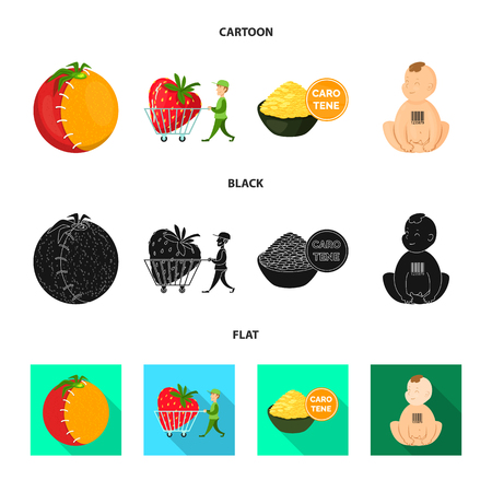 Isolated object of test and synthetic icon. Collection of test and laboratory stock vector illustration.