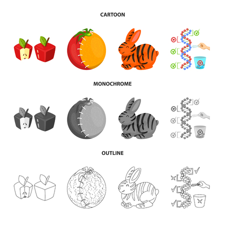 Vector illustration of test and synthetic logo. Collection of test and laboratory stock symbol for web.