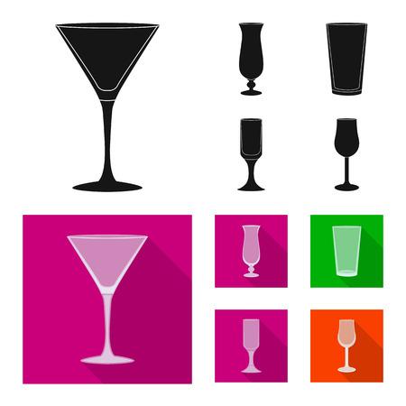 Vector design of form and celebration symbol. Set of form and volume stock vector illustration.  イラスト・ベクター素材