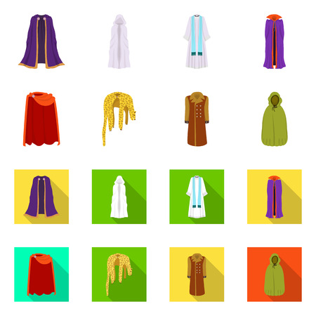 Isolated object of material and clothing. Set of material and garment stock vector illustration. Ilustração
