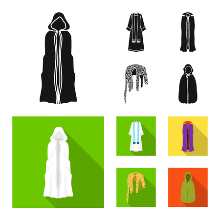 Vector design of material and clothing symbol. Collection of material and garment vector icon for stock. Illustration