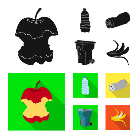 Vector illustration of dump and sort icon. Collection of dump and junk stock symbol for web.