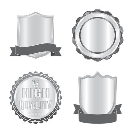 Vectorillustratie van embleem en badge. Collectie van embleem en sticker vector pictogram voor voorraad. Vector Illustratie