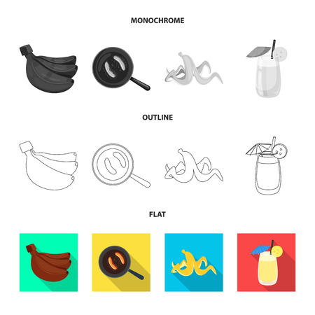 Isolated object of natural and vegetarian. Set of natural and eating vector icon for stock.