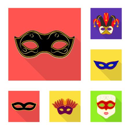 Vector design of luxury and celebration. Set of luxury and hide stock symbol for web. Vektorgrafik