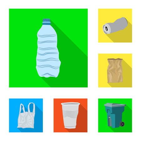 Vector illustration of dump  and sort. Collection of dump  and junk vector icon for stock.