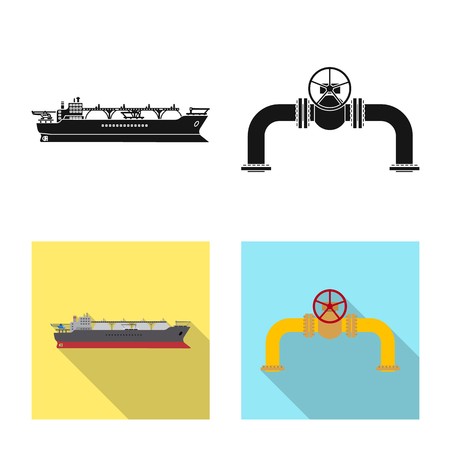 Vector design of oil and gas symbol. Collection of oil and petrol vector icon for stock.