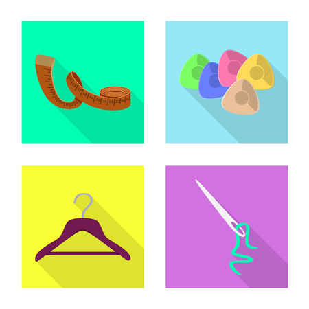 Vector illustration of craft and handcraft symbol. Set of craft and industry vector icon for stock. Иллюстрация