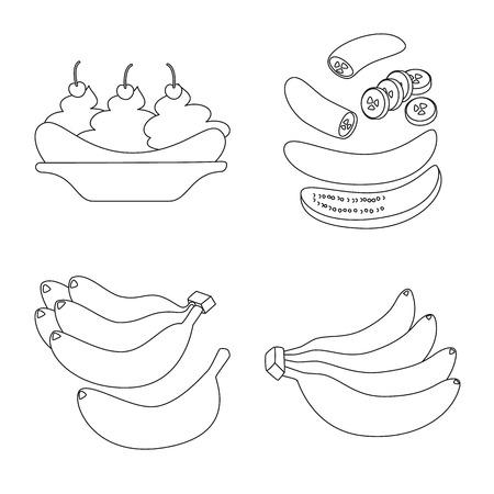 Vector illustration of organic and potassium symbol. Set of organic and diet vector icon for stock. Illustration