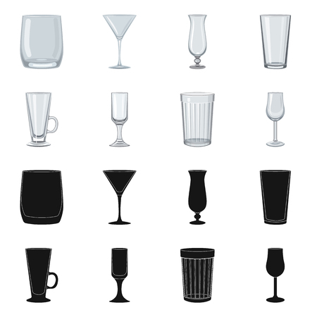 Vector design of form and celebration. Collection of form and volume vector icon for stock.