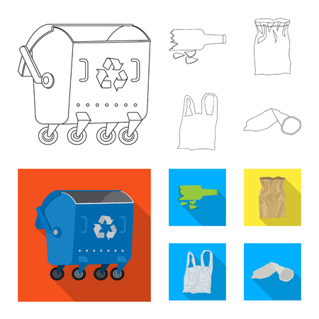 Vector illustration of dump  and sort icon. Set of dump  and junk stock vector illustration. Illustration