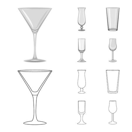 Vector design of form and celebration sign. Set of form and volume vector icon for stock. Ilustração
