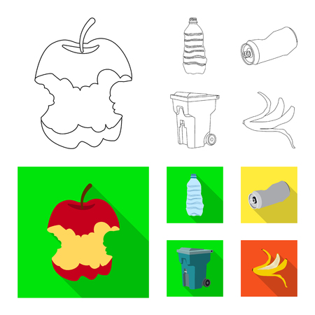 Vector illustration of dump  and sort. Set of dump  and junk stock vector illustration.