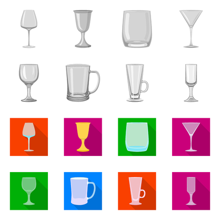 Isolated object of form and celebration symbol. Set of form and volume stock vector illustration.