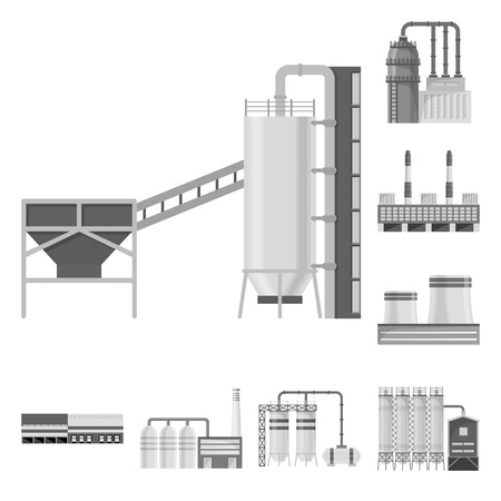 Vector illustration of production and structure icon. Set of production and technology stock symbol for web.