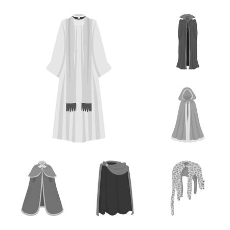 Objet isolé du logo textile et tissu. Collection d'icônes vectorielles textiles et vêtements pour stock.