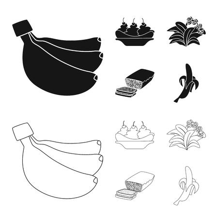 Vector design of natural and vegetarian logo. Set of natural and eating stock symbol for web.