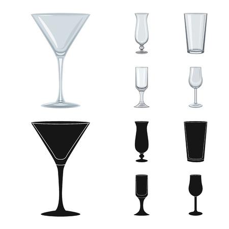 Vector illustration of form and celebration sign. Collection of form and volume stock symbol for web. Ilustração