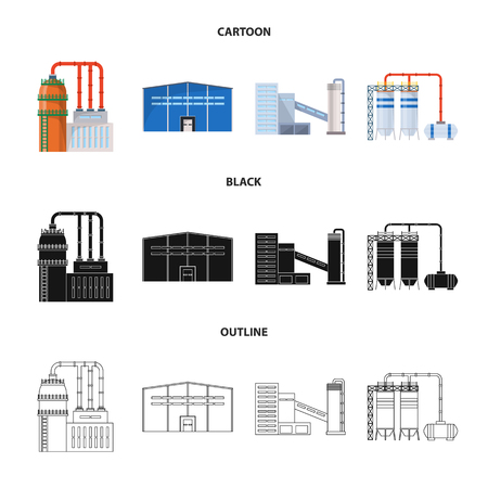 Isolated object of production and structure icon. Set of production and technology stock vector illustration.