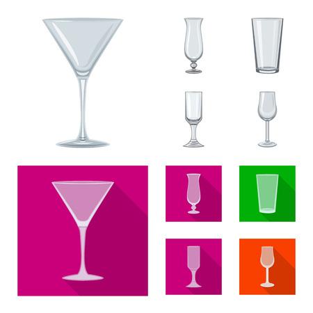 Vector illustration of form and celebration icon. Set of form and volume vector icon for stock. Ilustração