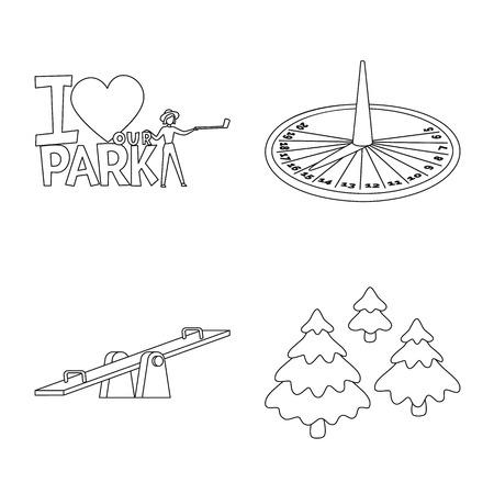 Vector design of landscape and nature. Set of landscape and city vector icon for stock. Stock Illustratie