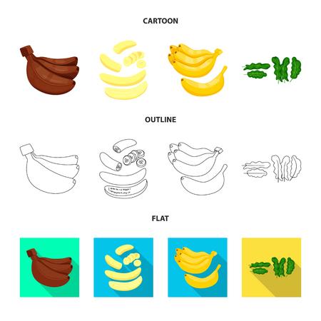 Vector illustration of natural and vegetarian logo. Set of natural and eating stock symbol for web.