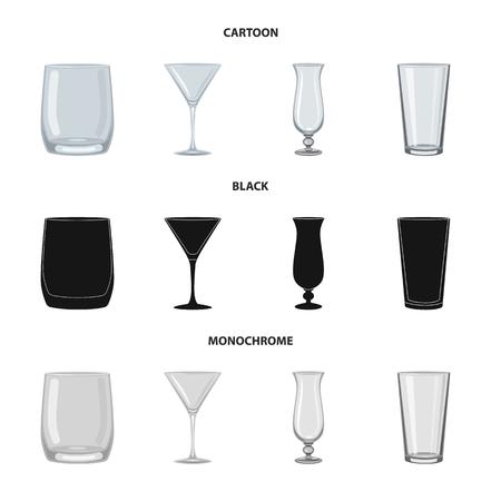 Vector design of form and celebration icon. Set of form and volume stock vector illustration. Ilustração