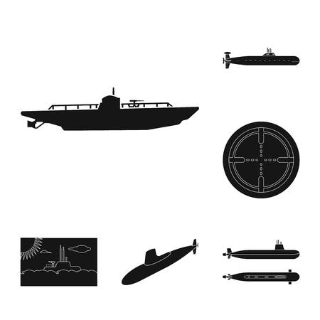 Vector design of technology and fleet sign. Collection of technology and navy stock vector illustration.