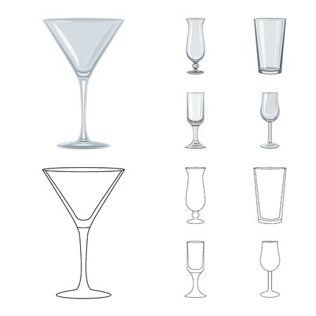 Vector design of form and celebration symbol. Set of form and volume stock vector illustration. Ilustração