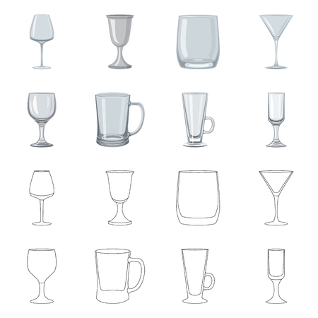 Isolated object of form and celebration symbol. Set of form and volume vector icon for stock. Ilustração