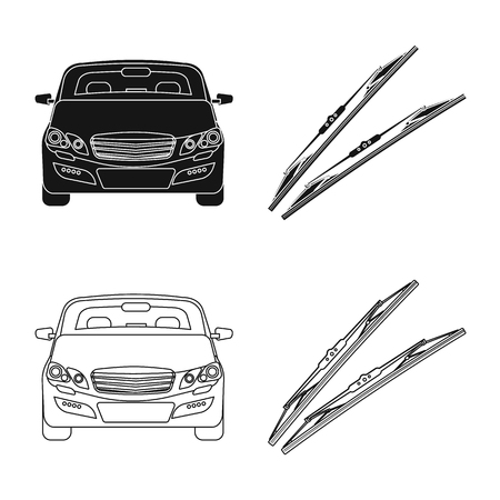 Vector illustration of auto and part icon. Set of auto and car vector icon for stock. Foto de archivo - 119780416