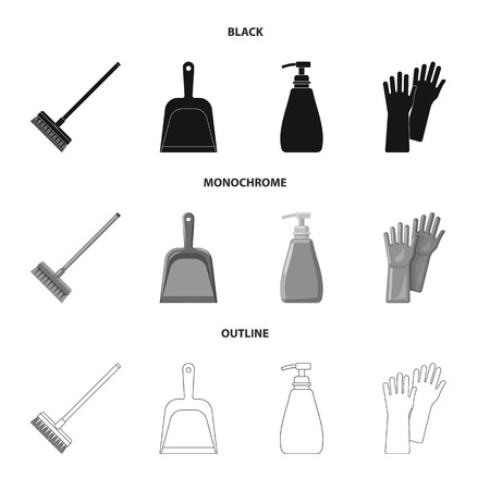 Vector design of cleaning and service symbol. Set of cleaning and household vector icon for stock.