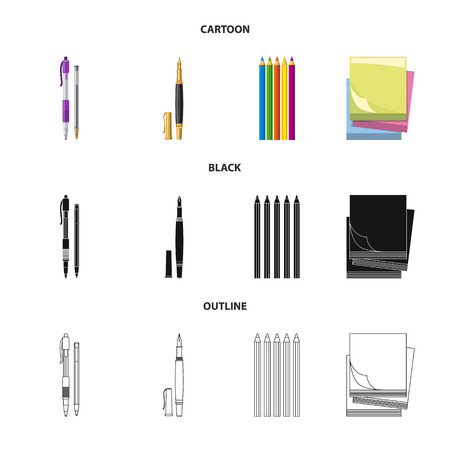 Vector design of office and supply icon. Set of office and school vector icon for stock.