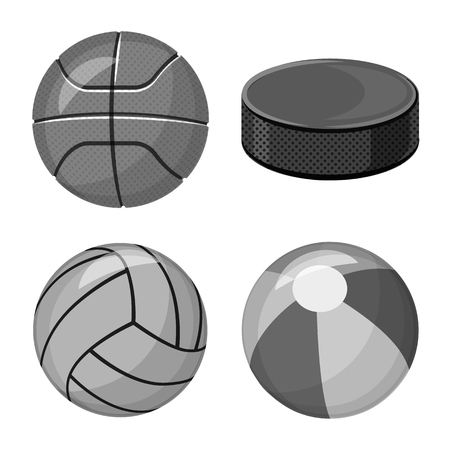 Isolated object of sport and ball icon. Collection of sport and athletic stock symbol for web.