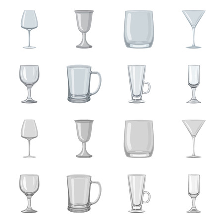 Isolated object of form and celebration icon. Set of form and volume stock vector illustration.