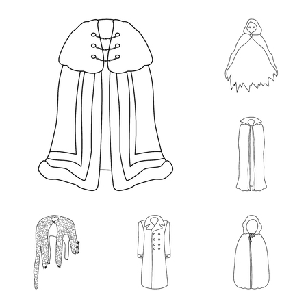 Vector design of robe and garment icon. Set of robe and cloth stock symbol for web.