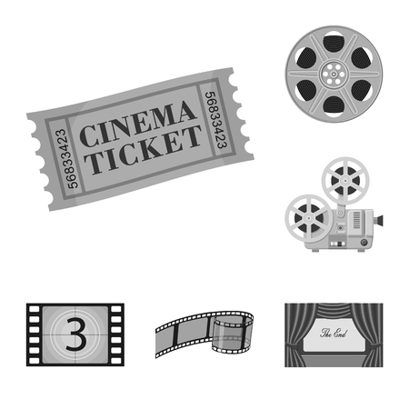Vector design of cinematography and studio logo. Collection of cinematography and filming vector icon for stock.