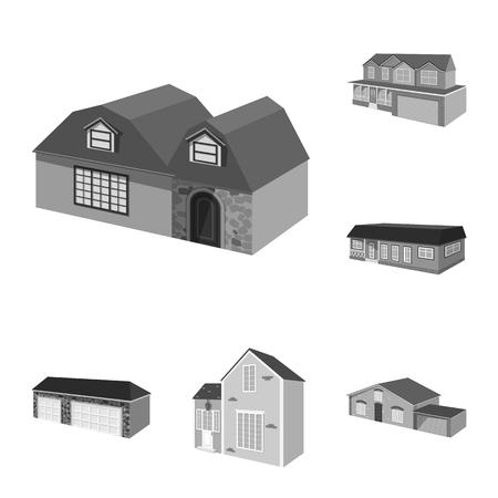 Vector design of architecture and estate symbol. Set of architecture and housing stock symbol for web.