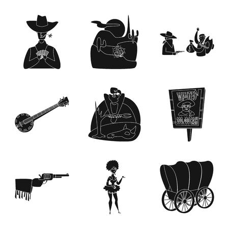 Diseño vectorial de señal de peligro y cultura. Colección de peligro y símbolo de stock del oeste para web. Ilustración de vector