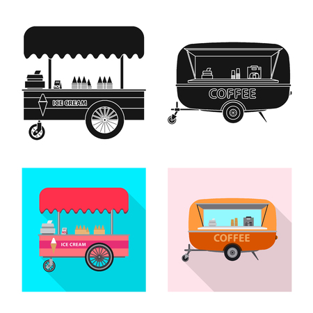 Vector design of market and exterior icon. Set of market and food vector icon for stock. Illustration