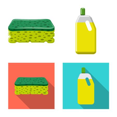 Illustrazione vettoriale di pulizia e servizio. Set di icone vettoriali per la pulizia e la casa per stock.