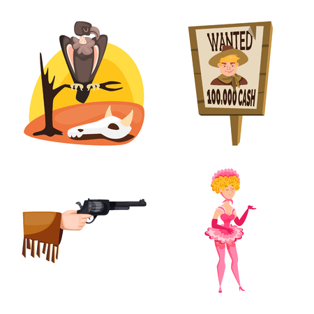 Isolated object of wild and west icon. Collection of wild and american stock vector illustration.