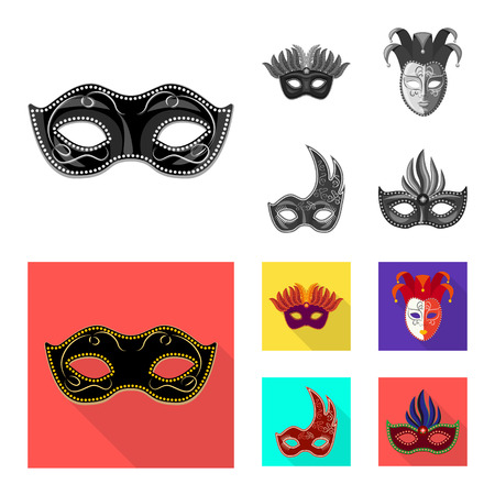 Vector design of luxury and celebration symbol. Set of luxury and hide  vector icon for stock.