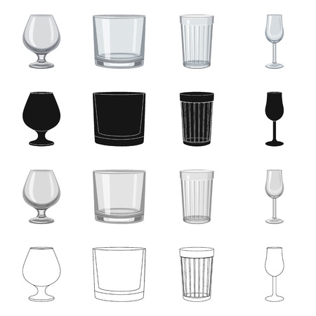 Isolated object of form and celebration icon. Collection of form and volume stock symbol for web. Ilustrace