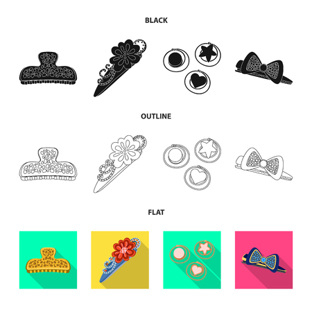 Vector illustration of beauty and fashion symbol. Collection of beauty and female vector icon for stock.